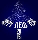 Happy new year 2015. Illustration on dark blue background Stock Photo