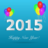 2015 Happy New Year. Illustration of a 2015 Happy New Year design on a colorful blue background royalty free illustration