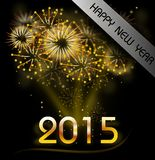 Happy New Year 2015. Illustration of firework with text Happy New Year 2015 Stock Photography