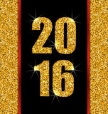 Happy New Year 2016. Illustration Glitter Poster with Lights and Twinkle for Happy New Year 2016 - Vector Royalty Free Stock Photography