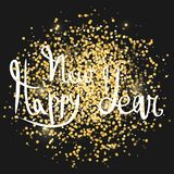 Happy New Year. Gold confetti vector illustration