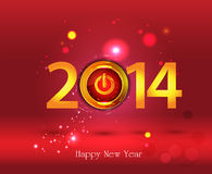 Happy New Year 2014 - Illustration. This image is a vector illustration and can be scaled to any size without loss of resolution. This image will download as a Royalty Free Stock Images