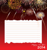 Happy New Year 2014 - Illustration Stock Image