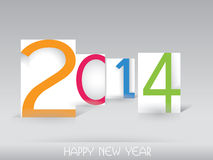 Happy New Year 2014 - Illustration. This image is a vector illustration and can be scaled to any size without loss of resolution. This image will download as a Stock Image
