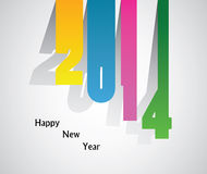 Happy New Year 2014 - Illustration. This image is a vector illustration and can be scaled to any size without loss of resolution. This image will download as a Royalty Free Stock Image
