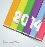 Happy New Year 2014 - Illustration Royalty Free Stock Photos