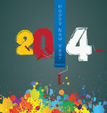 Happy New Year 2014 - Illustration Stock Photos