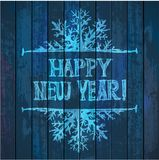Happy new year illustration - light blue letters Royalty Free Stock Photos