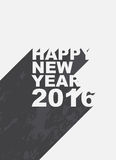 Happy new year 2016. Illustration with long shadow background Stock Photo