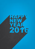 Happy new year 2016. Illustration with long shadow background stock illustration