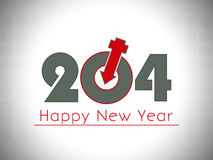 Happy New Year 2014 illustration with male female symbol Royalty Free Stock Image