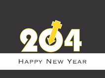 Happy New Year 2014 illustration with male female symbol Stock Images