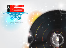 Happy new year 2016. Illustration with music background royalty free illustration