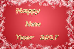 Happy New Year 2017 illustration royalty free stock images