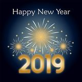 Happy New Year for 2019 stock illustration