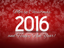 2016 Happy New Year illustration Royalty Free Stock Photography