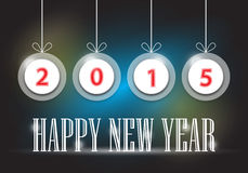 Happy new year. Illustration of Happy new year text on dark background vector illustration