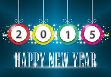 Happy new year. Illustration of Happy new year text on dark background royalty free illustration