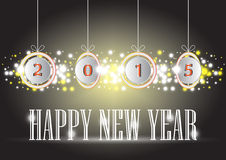 Happy new year. Illustration of Happy new year text on dark background stock illustration