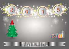Happy new year. Illustration of Happy new year text on gray background royalty free illustration