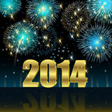 Happy New Year 2014. Illustration vector background, Happy New Year 2014 Stock Illustration