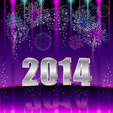 Happy New Year 2014. Illustration vector background, Happy New Year 2014 Stock Images