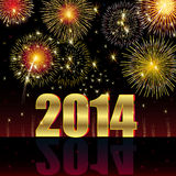 Happy New Year 2014. Illustration vector background, Happy New Year 2014 Royalty Free Illustration