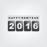 Happy new year 2016. Illustration with white background Royalty Free Illustration