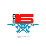 Happy new year 2016. Illustration with white background Royalty Free Stock Image
