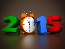 Happy new year 2015 Illustrations 3d Stock Images