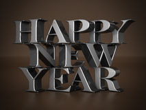 Happy new year Illustrations 3d Stock Image