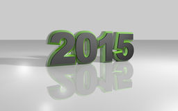 Happy new year 2015. Illustrations 3d colored Stock Images