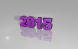 Happy new year 2015. Illustrations 3d colored Royalty Free Stock Photo