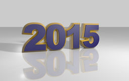 Happy new year 2015. Illustrations 3d colored Stock Photos
