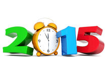 Happy new year 2014 Illustrations 3d. On a white background Royalty Free Stock Photography