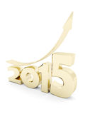 Happy new year 2014 Illustrations 3d. On a white background Stock Photos