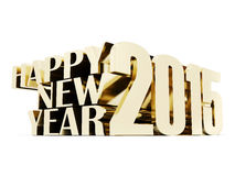 Happy new year 2015 Illustrations 3d. On a white background Royalty Free Stock Photo