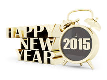 Happy new year 2015 Illustrations 3d. On a white background Stock Photo
