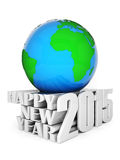 Happy new year 2015 Illustrations 3d. On a white background Stock Images