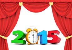 Happy new year 2015 Illustrations 3d Stock Image