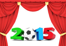 Happy new year 2015 Illustrations 3d. On a white background Stock Photography