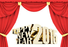 Happy new year 2015 Illustrations 3d Stock Photography