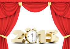 Happy new year 2015 Illustrations 3d Royalty Free Stock Image