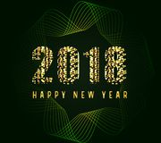 Happy new year 2018  ilulustration Royalty Free Stock Images