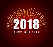 Happy new year 2018  ilulustration Stock Images