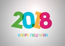 Happy New Year 2018. This is image is happy new year greeting colored illustration vector illustration