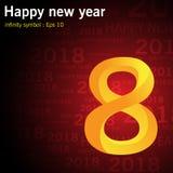 Happy New Year 2018. Infinity symbol Royalty Free Stock Photography