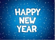 Happy new year inscription. Happy new year comic style lettering. Vector eps 10 Stock Photos