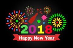 Happy New Year 2018. stock image