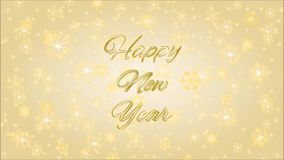 Happy New Year inscription  with fireworks video stock footage